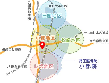 小郡地区マップ
