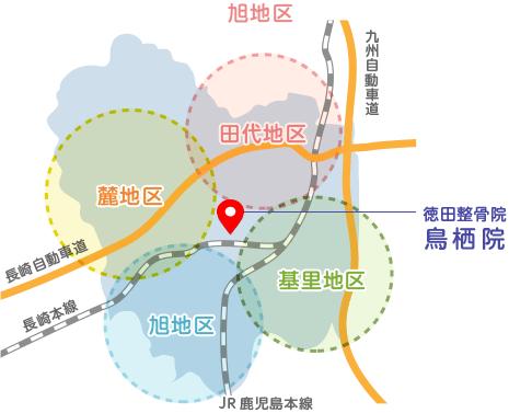 鳥栖地区マップ